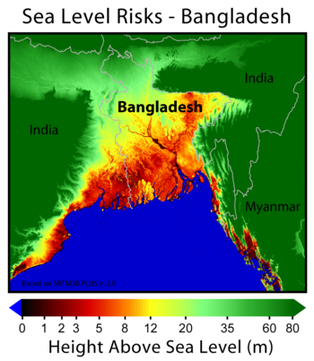 SeaLevel Rise Could Wipe Out Bangladesh By Oil Change - Level above sea level