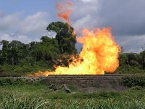 Shell Gas Flare, Nigeria