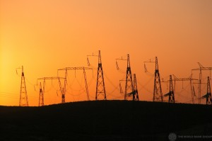 powerline-sunset