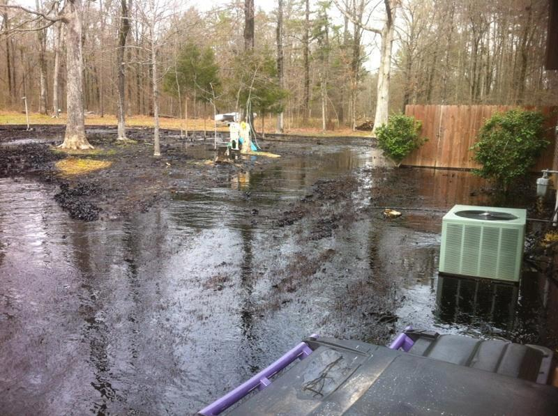 oil spill in backyard