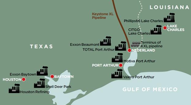 map-KXL-refineries
