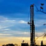 frack sunset