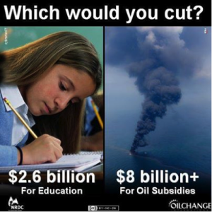 Oil Subsidies vs. Education Funding