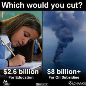 Oil Subsidies vs. Education Funding