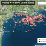 offshore fracking wells