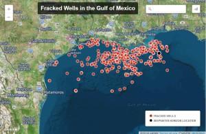 offshore fracking wells