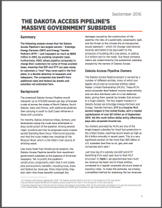 Dakota Access Pipeline subsidies