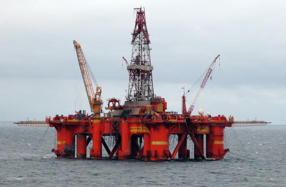 North Sea drilling rig. Credit: Erik Christensen