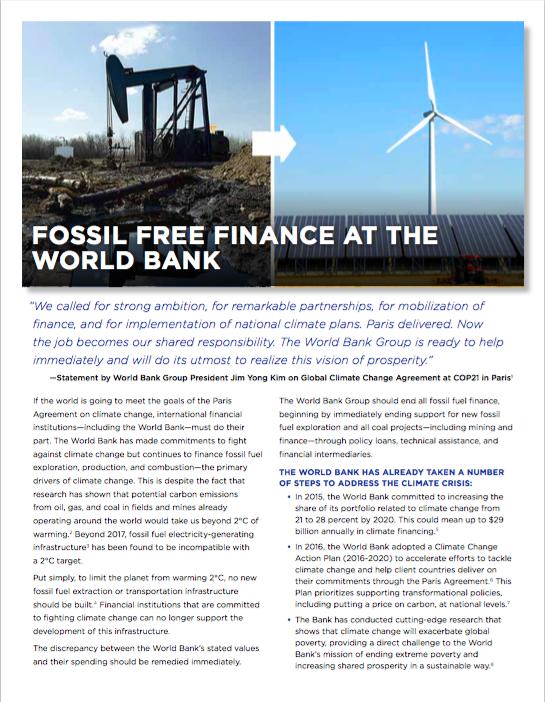 World Bank Fact Sheet