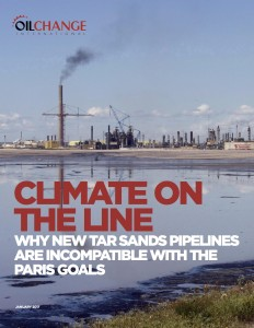Climate on the Line: Why new tar sands pipelines are incompatible with the Paris goals