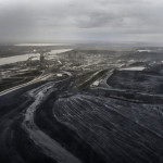 An arial view of the Alberta oil sands