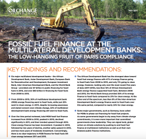 Fossil Fuel Finance at the Multilateral Development Banks: The Low-Hanging Fruit of Paris Compliance