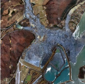 C: Tennessee Valley Authority - view of the site the day after the spill