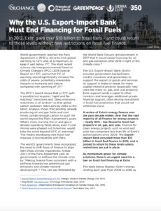 Why the U.S. Export-Import Bank Must End Financing for Fossil Fuels