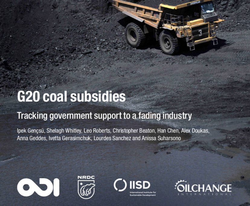 G20 Coal Subsidies: Tracking Government Support to a Fading Industry