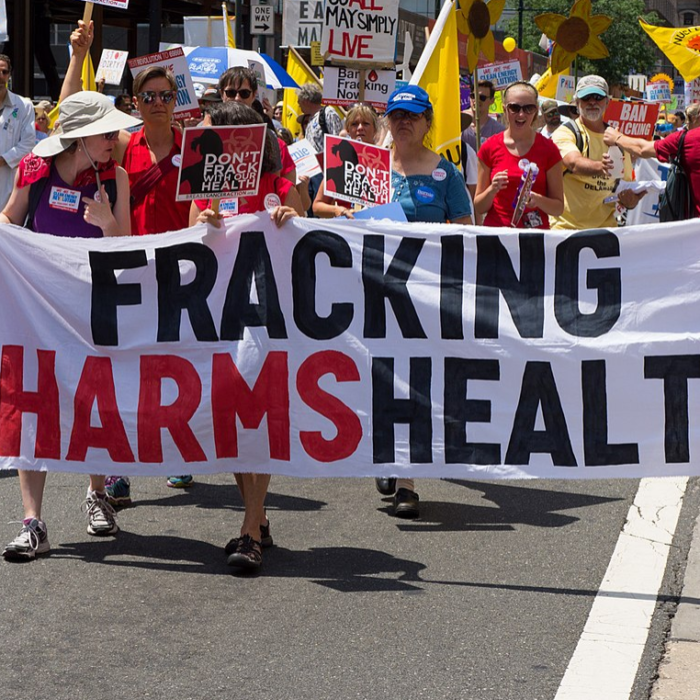 "90% of studies on fracking find ""association with harm or potential harm."""