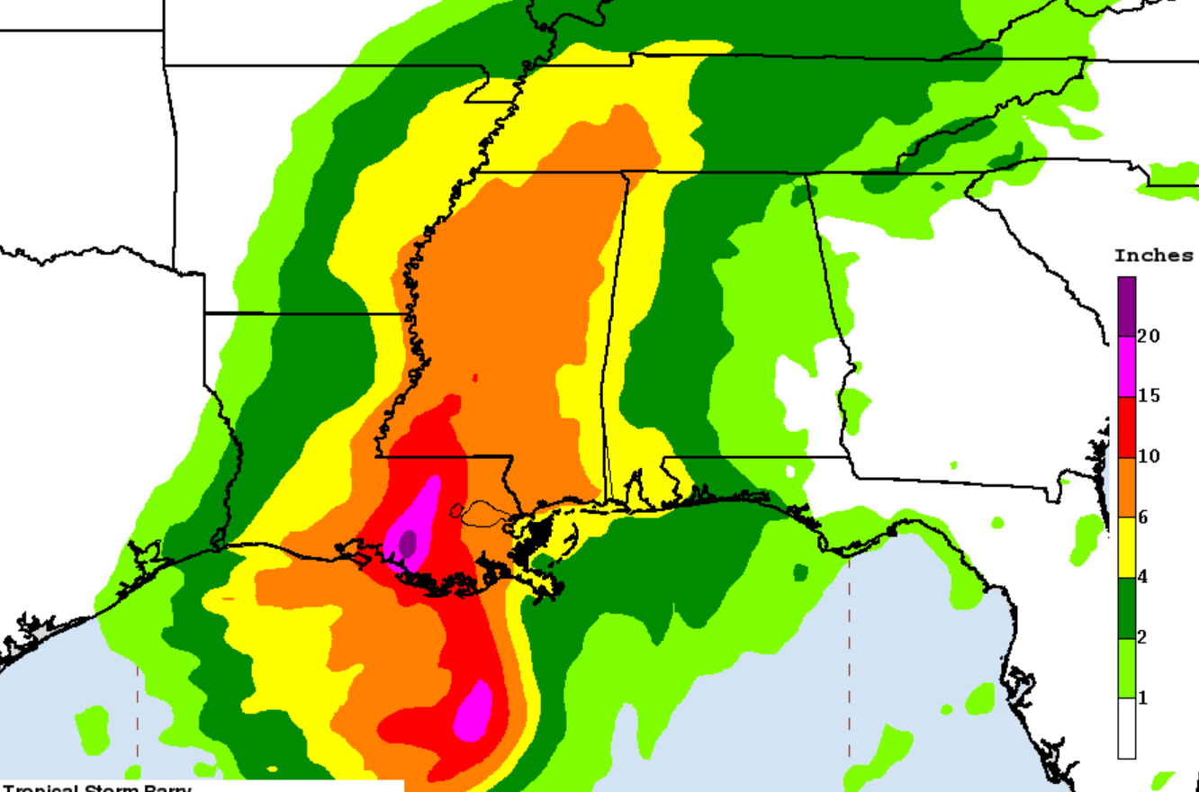 """Life threatening"" Tropical Storm Barry is ""exactly a climate change story"""