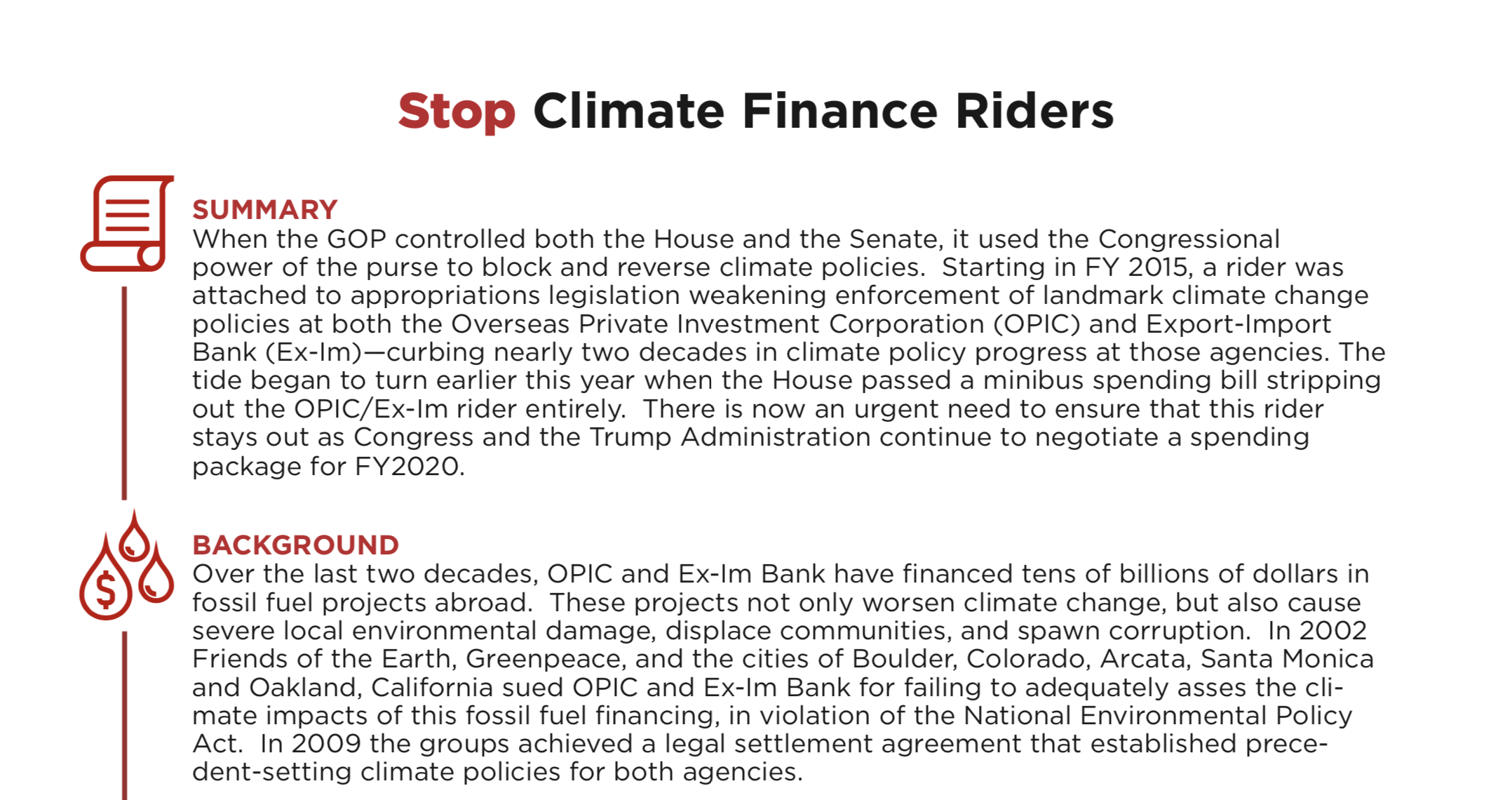 Briefing: Why Congress Must Stop Blocking Climate Progress on International Finance