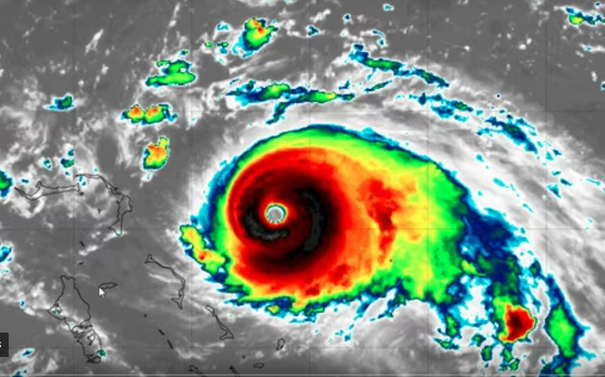 "Deeply destructive & catastrophic Hurricane Dorian reflects our ""climate emergency"""