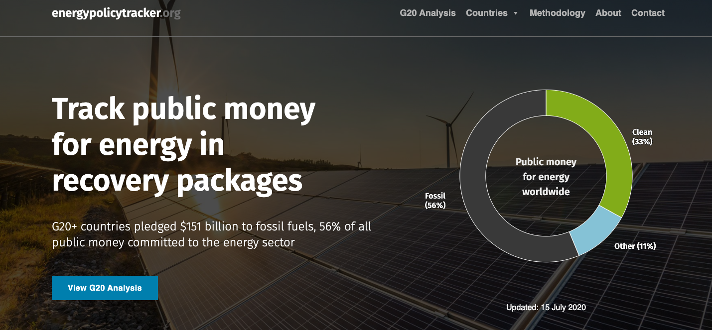 G20 Recovery Packages Benefit Fossil Fuels More Than Clean Energy