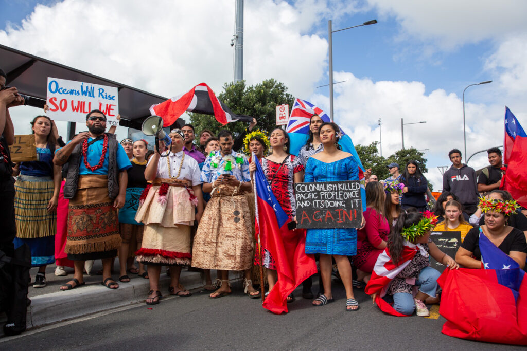 Pasifika youth at the School Strike for Climate in Auckland, September 2019.