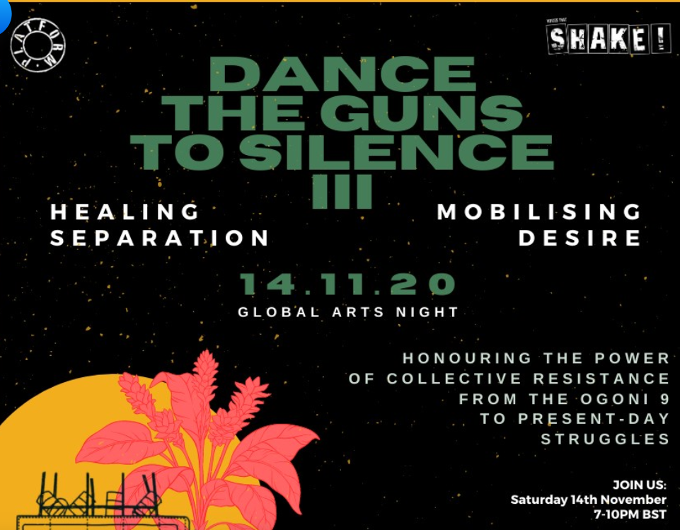 "From Nigeria to Canada: A global arts celebration tomorrow to ""Dance the guns to silence"""