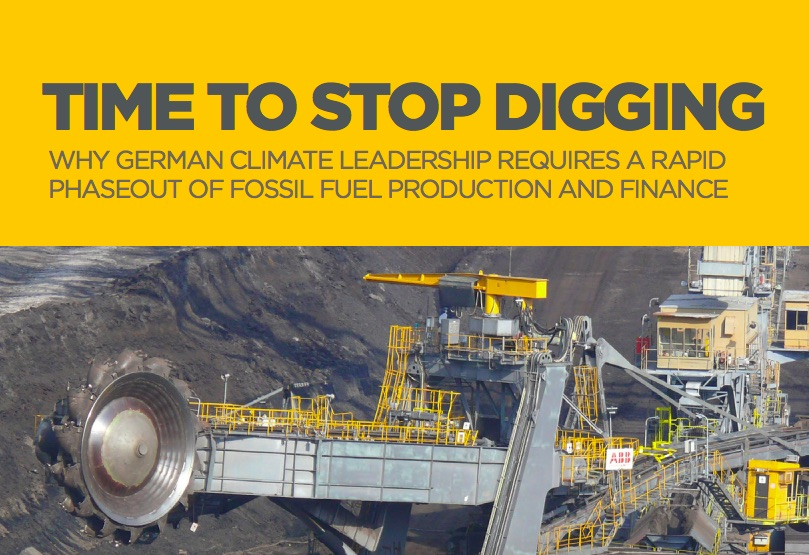Time to Stop Digging: Why Germany's Climate Leadership Requires a Rapid Phaseout of Fossil Fuel Production and Finance