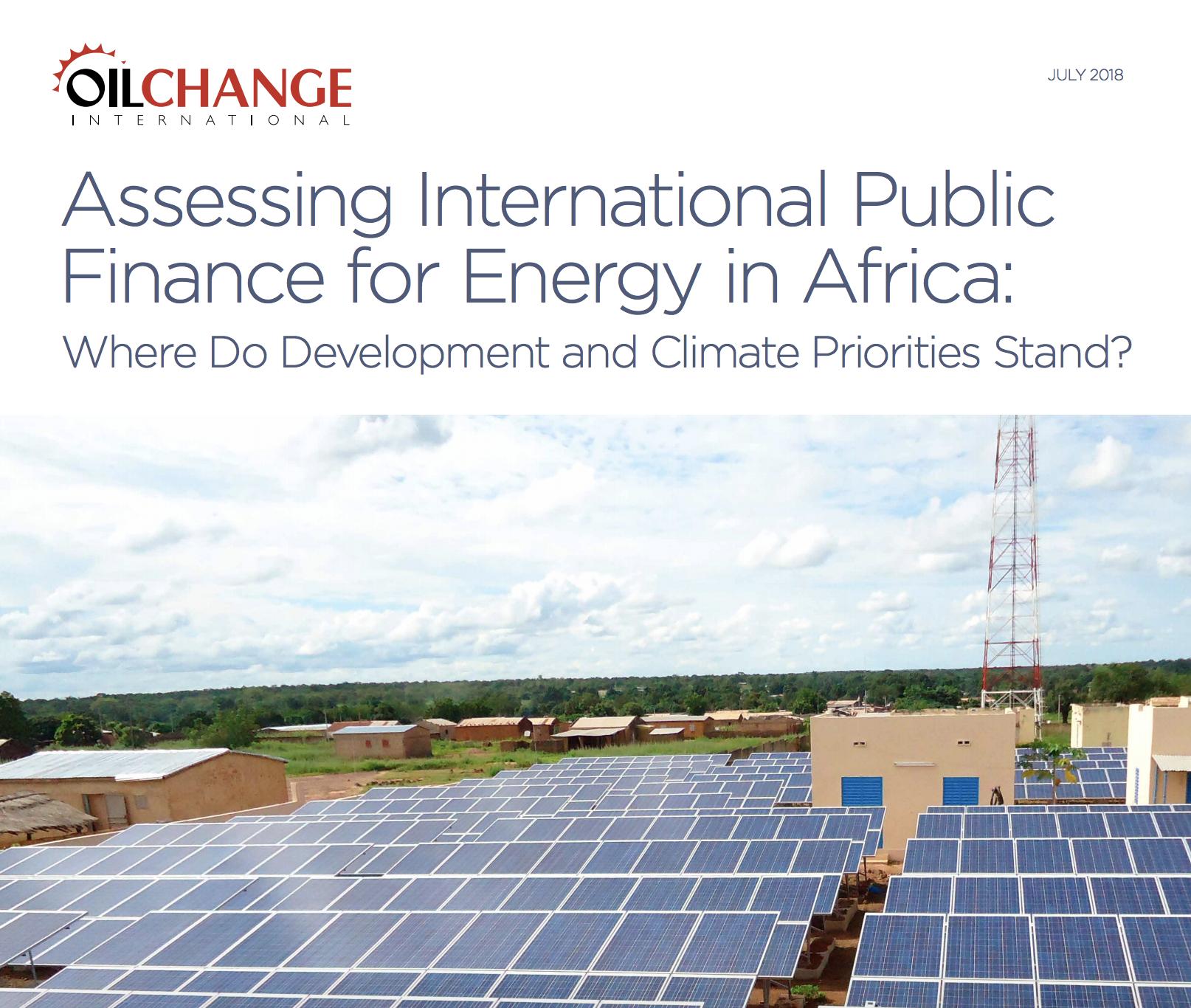 Assessing International Public Finance for Energy in Africa