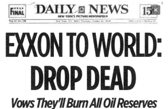 "Despite growing climate emergency, Exxon's message to world remains: ""Drop Dead"""