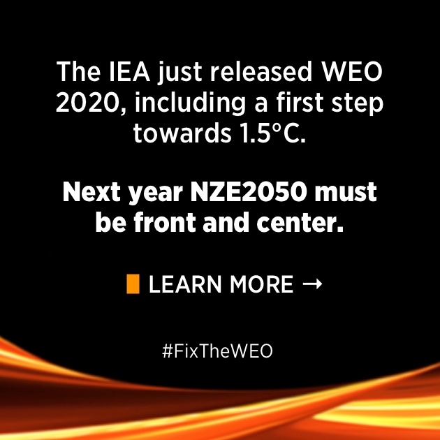 WEO 2020: A small step when the world needs a giant leap