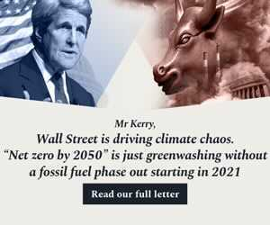 Hundreds of Groups Urge Kerry to Push for Wall St. Climate Regulation, Not Partnership