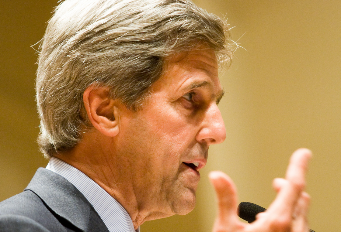 """John Kerry tells Big Oil to join energy transition or """"sit there with stranded assets""""."""