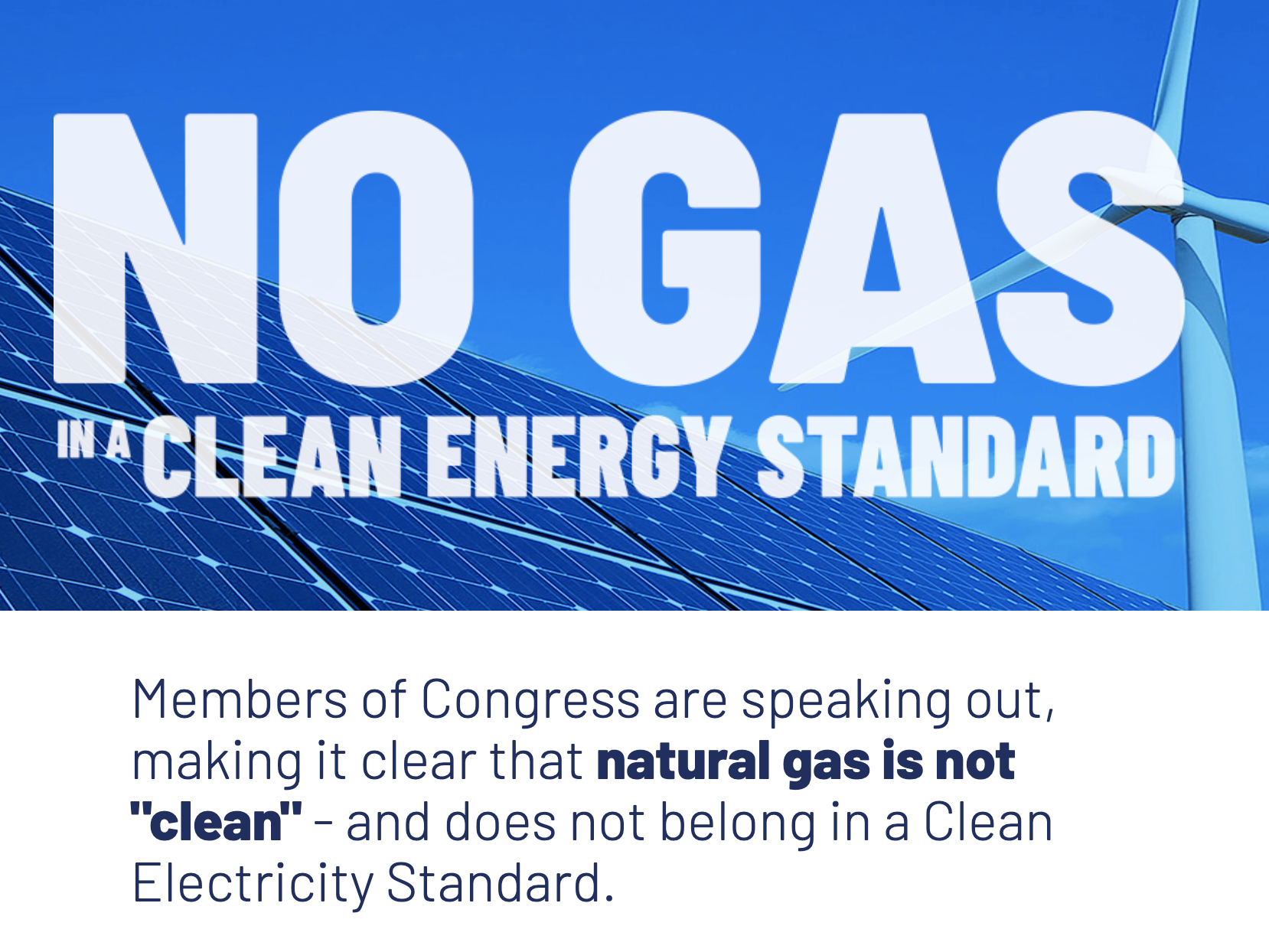 Oil Change International and Partners Launch 'Gas Is Not Clean' Campaign