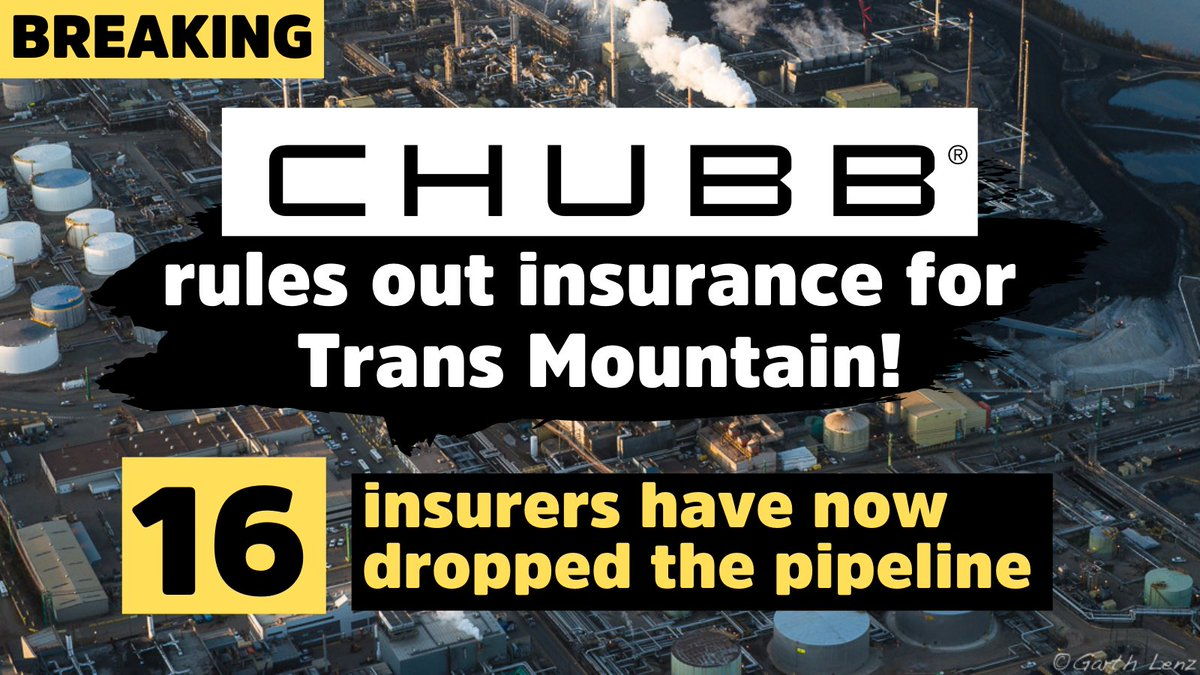 Insure Our Future Campaign Welcomes Chubb's Tar Sands Exit